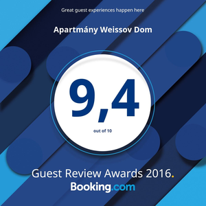 Booking.com rating 9.4 :-)
